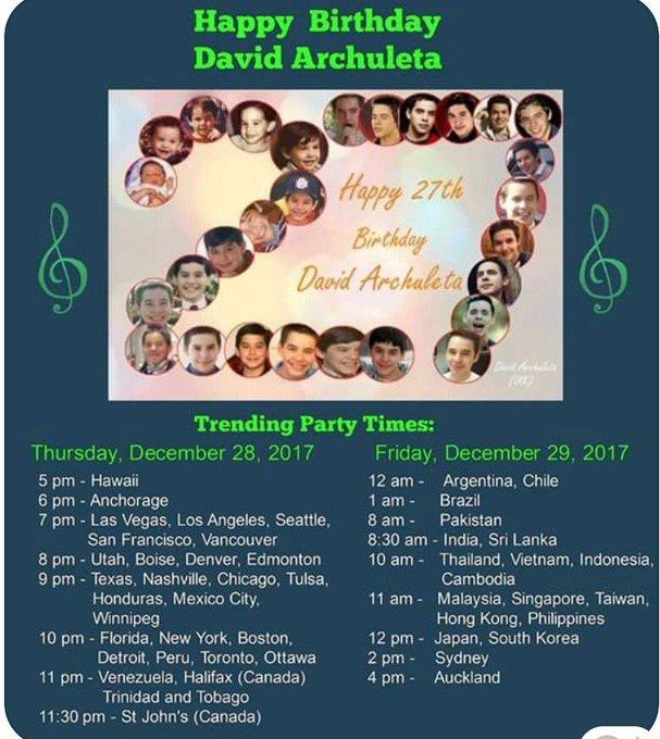Happy Birthday my idol David archuleta.  I love you David..