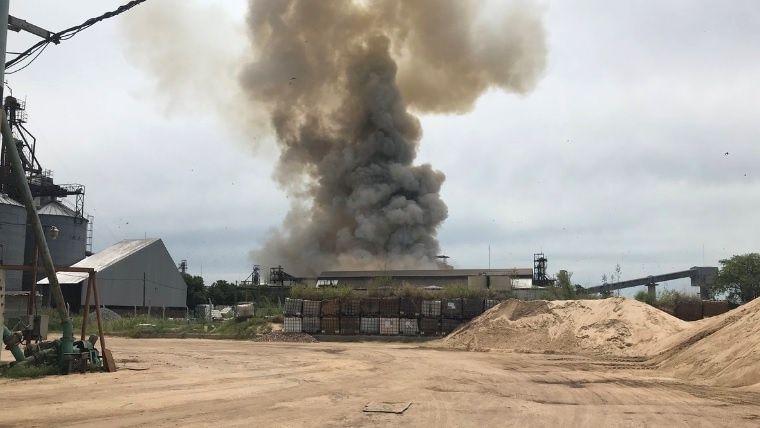 ВАргентине назерновом терминале прогремел мощнейший взрыв