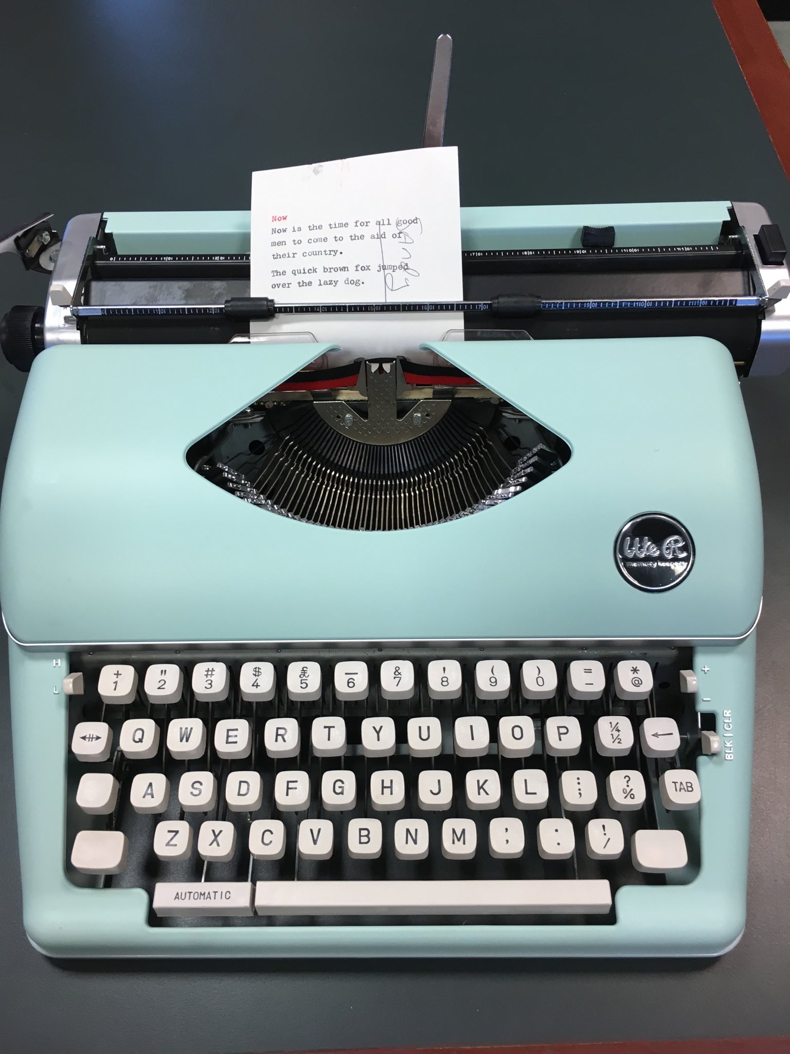 "Roy Peter Clark on Twitter ""My t to myself for Christmas not a re tread but a brand new typewriter purchased at TJ MAXX for $149 forty bucks less"