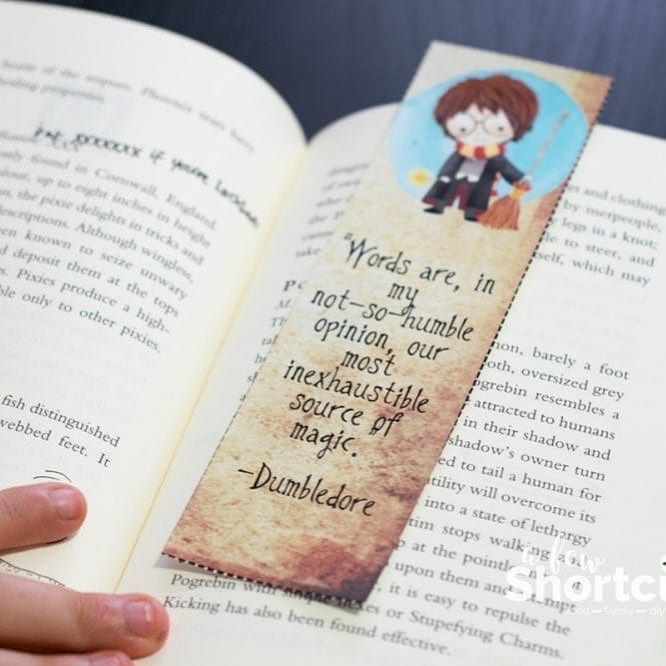 This is a photo of Harry Potter Printable Bookmarks within template