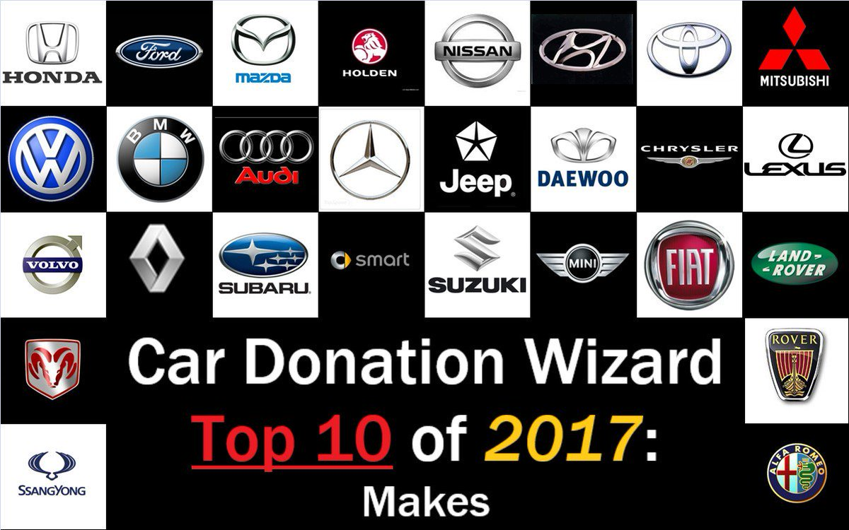 See Which Of Your Favorite Makes Top Our List Cars Charity Https Www Cardonationwizard Blog 2017 12 27 10 Car Brands Donated