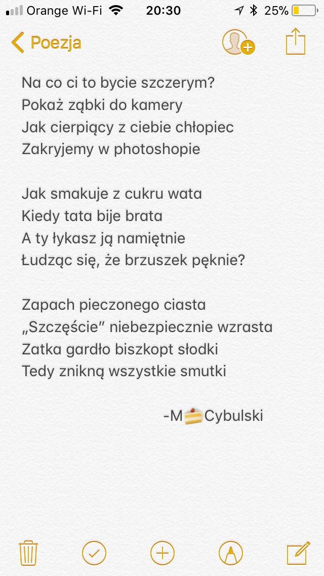 Gafomaniak On Twitter Wiersz Poezja Kamera