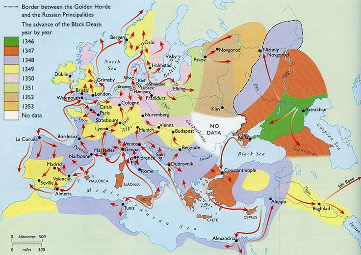 """BMH-British Medieval on Twitter: """"Map showing the spread of the ..."""