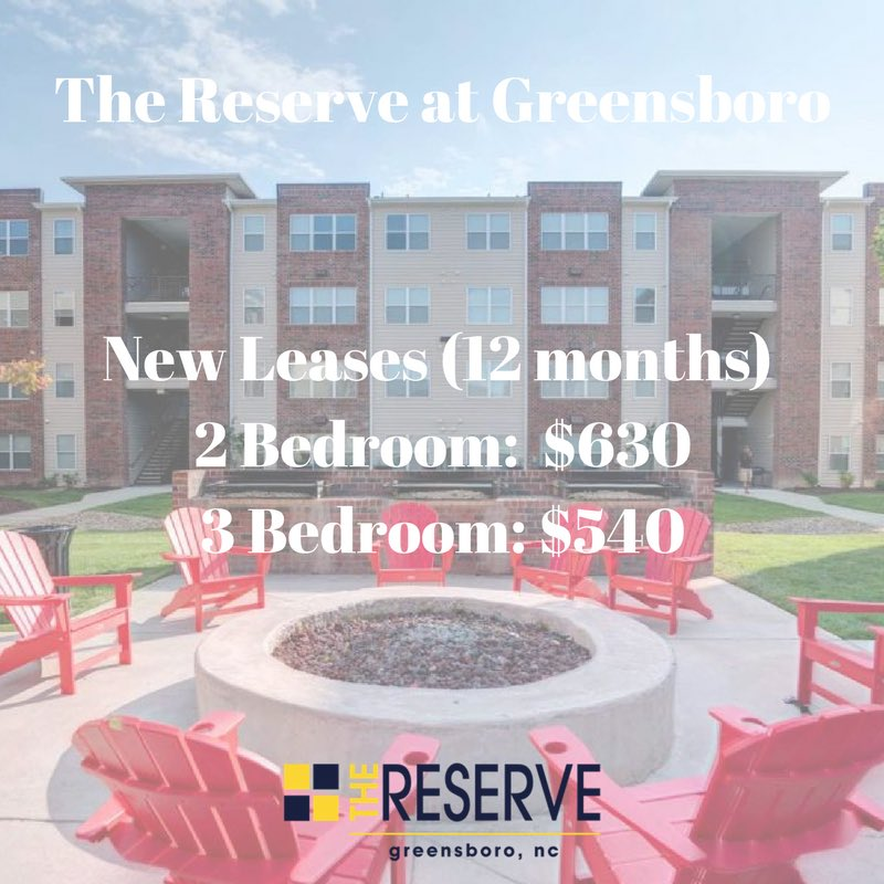 The Reserve Greensboro >> Reserve Greensboro On Twitter Our New Leases Have Started Rolling