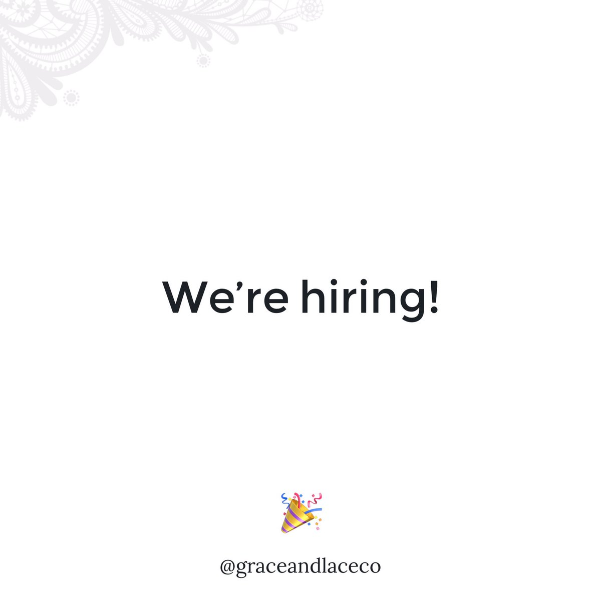 Graceandlaceco On Twitter Calling All Fashion Designers We Re Hiring A Lead Designer To Work With Melissa Https T Co Rvjctdbk6s Know Anyone Interested In Atx Https T Co Dcthntx2uo