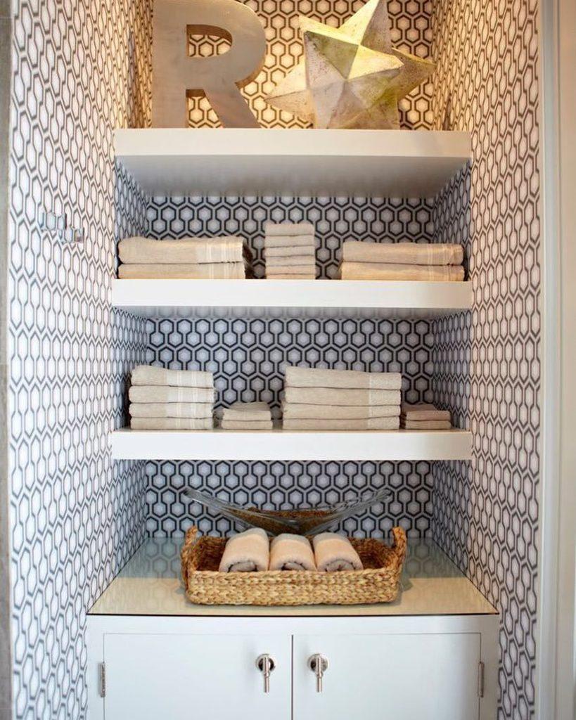 Go buy an outrageous wallpaper and line the interiors of a closet. #designtip #wallpaper #closet #jewelbox #interiordesign http://ift.tt/2E4vFtB ...