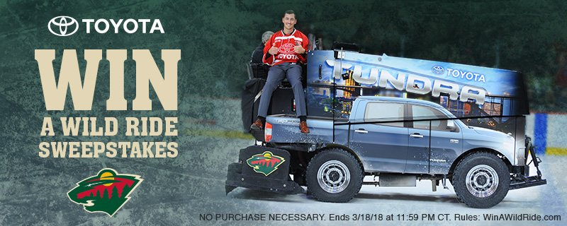 Minnesota Wild On Twitter Here S Your Chance To Win 4 Tickets A Ride The Tundra Zamboni Courtesy Of Twin Cities Toyota Dealers
