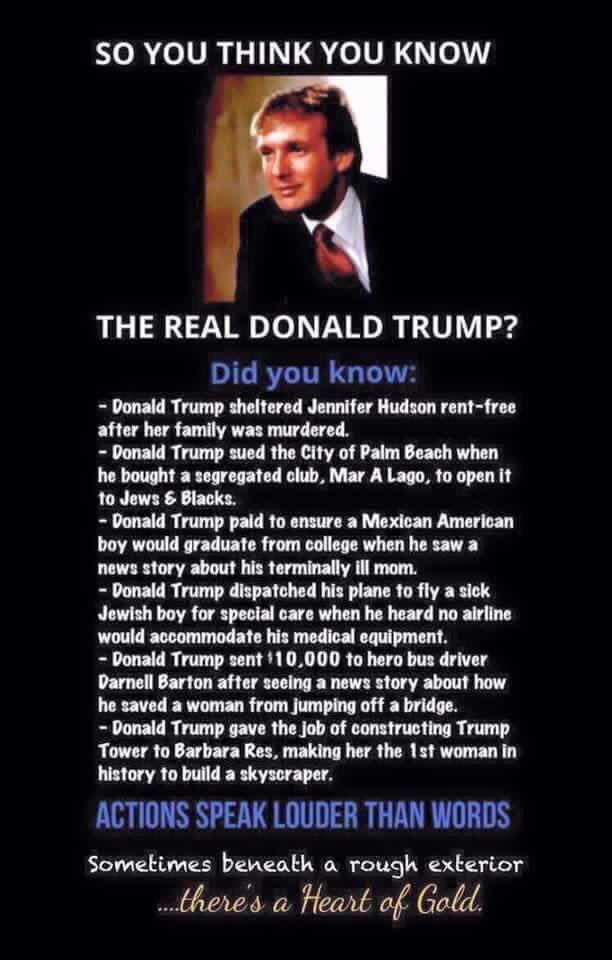 Thank you @realDonaldTrump!  You really do have a heart of gold✨