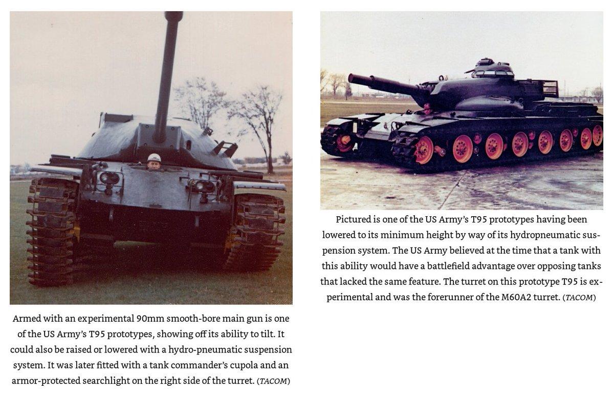 T95のこの写真、元はカラーだったのか(どっちも見た事あったけど白黒だった) まさにハイドロニューマチックの正しい使い方的なアレ