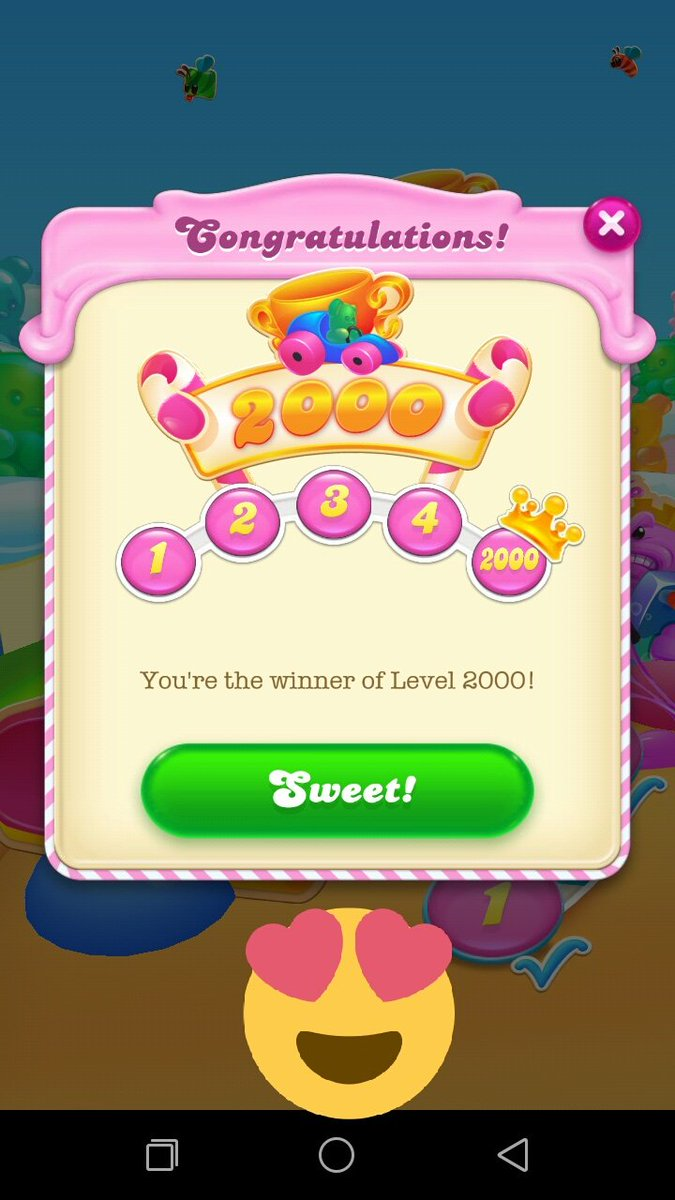 Yess....😍😍 2000 level complete ✌✌ @CandyCrushSoda #candycrushlover