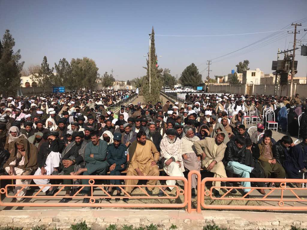 #Helmand: all the people in Helmand province support the peace process and presence of thousands of people in today's gathering is a strong indication of this support. Helmand governor.