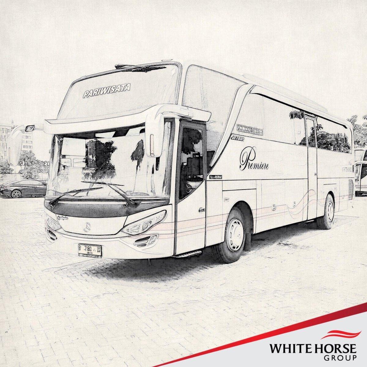 Sketsa Gambar Bus Pariwisata Sobsketsa