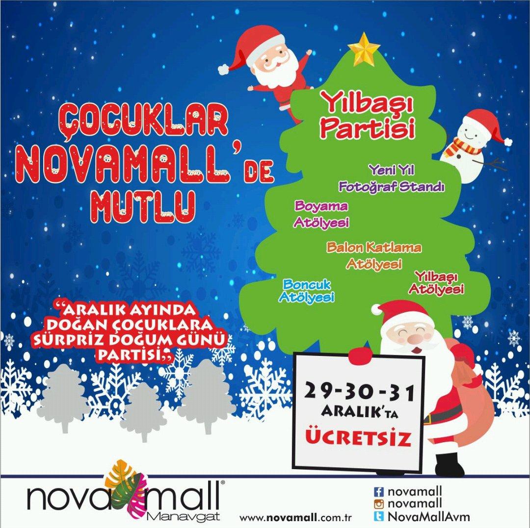Nova Mall On Twitter 29 30 31 Aralık Ta Tüm çocukları Novamallde