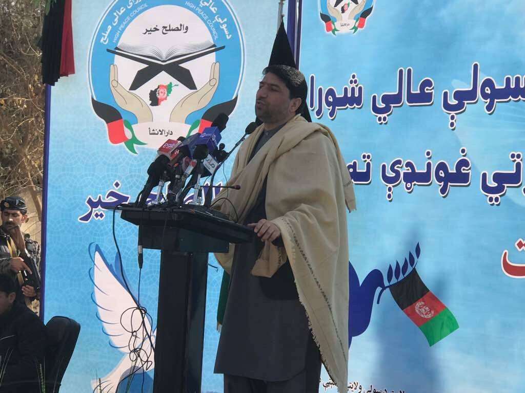 #Helmand gathering for peace: I salute the people of Helmand province for their patience and forbearance who are still committed for peace after 15 years of suffering.
