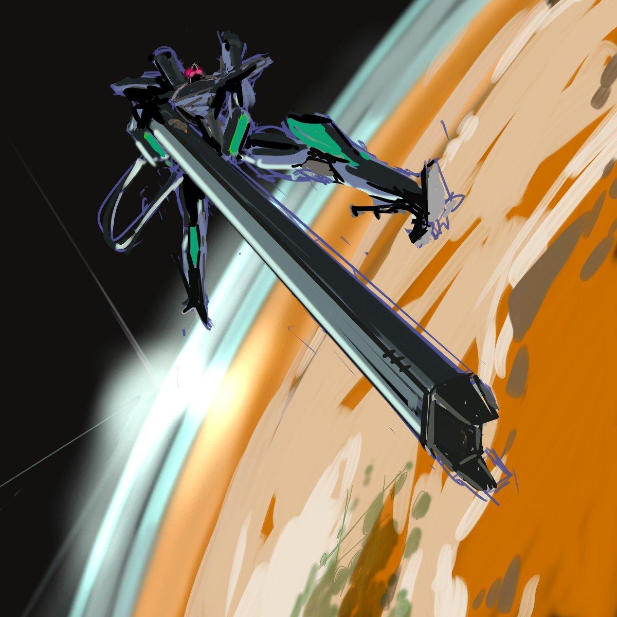 いろいろ楽しく弄り回したもののやはり衛星軌道の高さからくる足元おぼつかないタマヒュン感覚をかっこよさに消化できてるのはこのシンプルな絵面よね