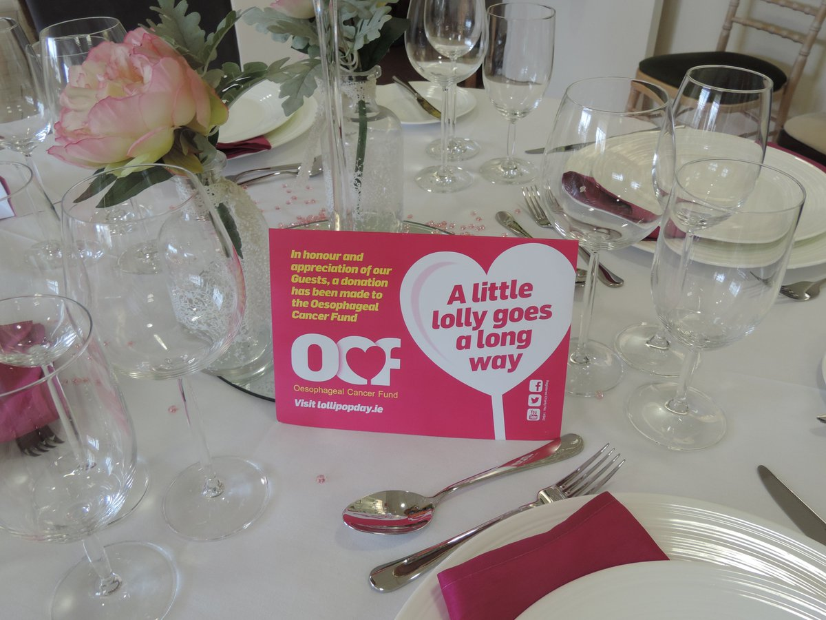 Oesophageal Cancer Fund In Lieu Of Wedding Favours Even The Smallest Donation Can Make A Huge Difference For More Information Contact Anne 086 4542713