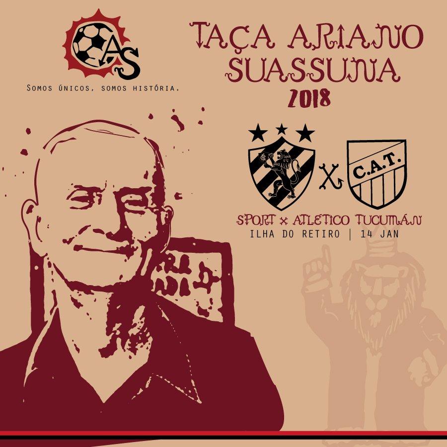 Sport encara clube argentino na Taça Ariano Suassuna de 2018. Saiba mais em https://t.co/ALxQCFxOLG #VamosMeuLeão #TaçaAriano2018