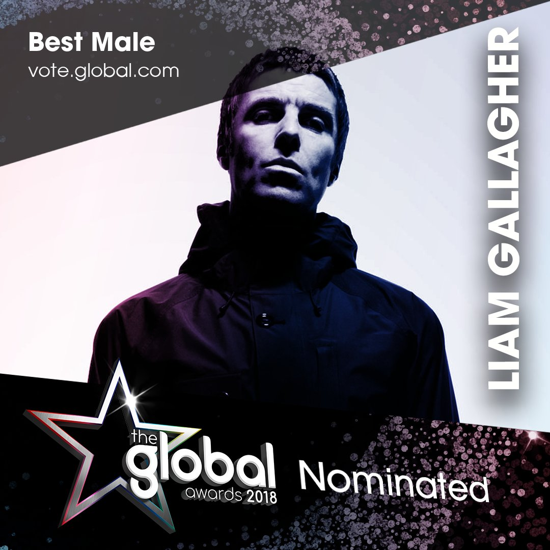 .@liamgallagher for 'Best Male'? Have your say at https://t.co/pP9FIStv5a, as you were. #TheGlobalAwards
