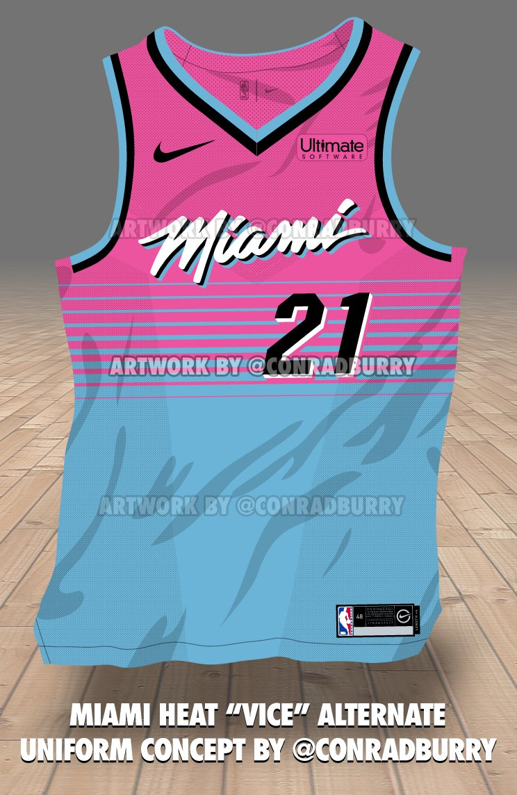 Miami Heat Alternate Jersey Vice 16f264