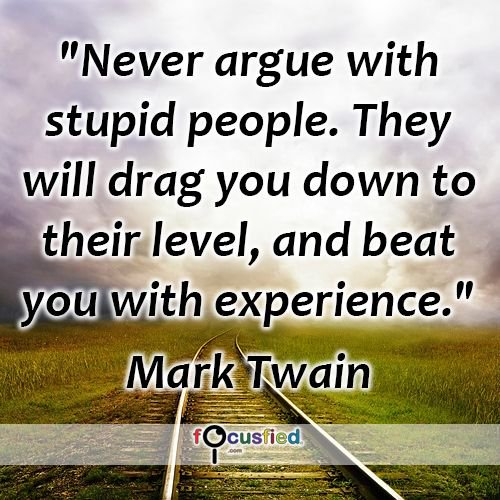 Kris Lee On Twitter Never Argue With Stupid People They Will