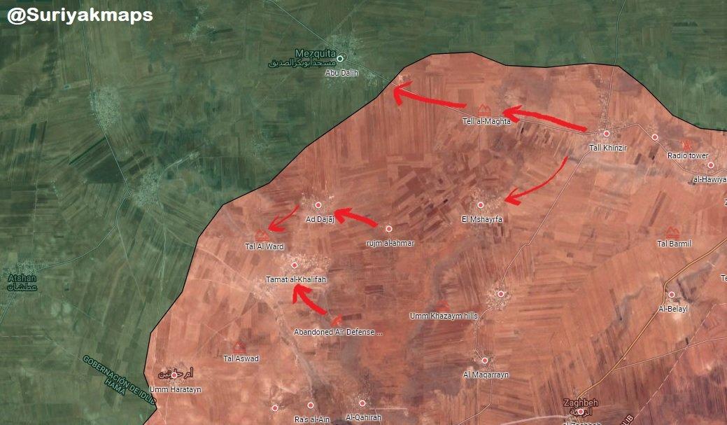 Suriyak on Twitter Idlib SAA TigerForces liberated Khuwayn al