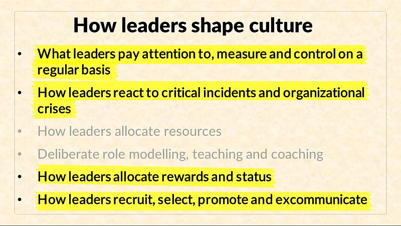 the of leadership in shaping organizational All leaders shape their company's cultural mindset so, how will you work to shape your organizational culture leadership title or not.