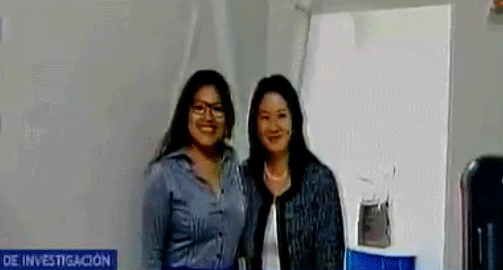 Keiko Fujimori llegó a la Fiscalía y trabajadores se tomaron fotos con ella