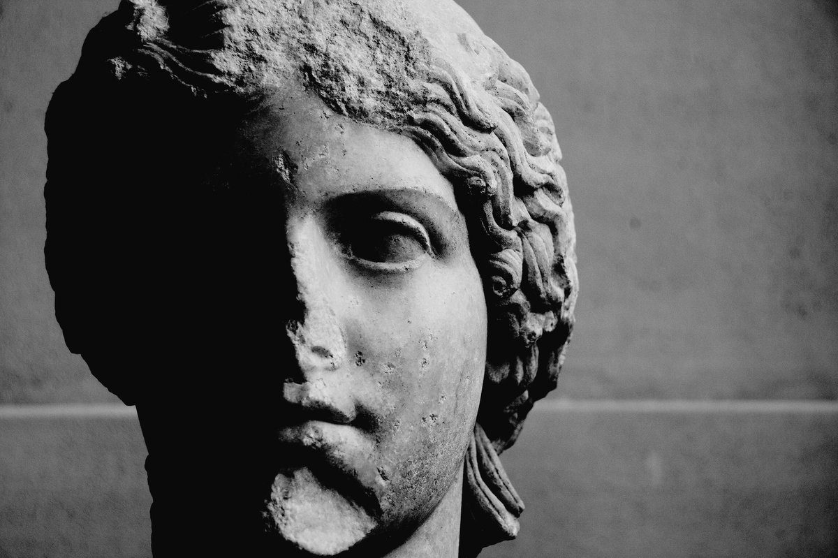Dr Sophie Hay On Twitter Curious As To Whether The Cross On Her Forehead Is A Deliberate Defacing Of The Statue As In This Example On Augustus From Ephesus Https T Co Ixktevol1p