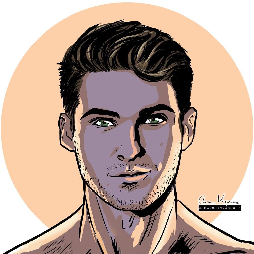 """Theo & Deuc Comics on Twitter: """"2 – This Cody portrait has a certain Wow-effect on it. The colors and the light is striking and makes it really pop out from the"""