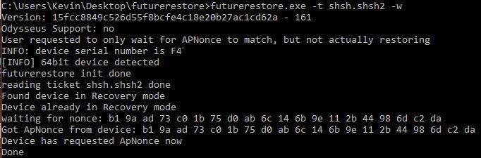 Futurerestore Windows 2019