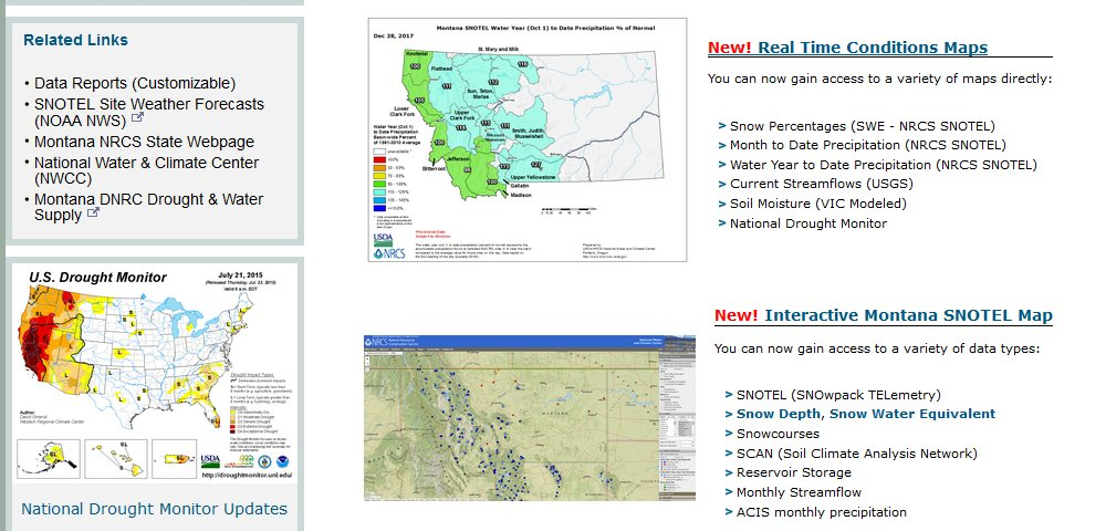 Snotel Montana Map.Nrcs Mt On Twitter Heavy Snow Is Predicted Get Real Time Mountain