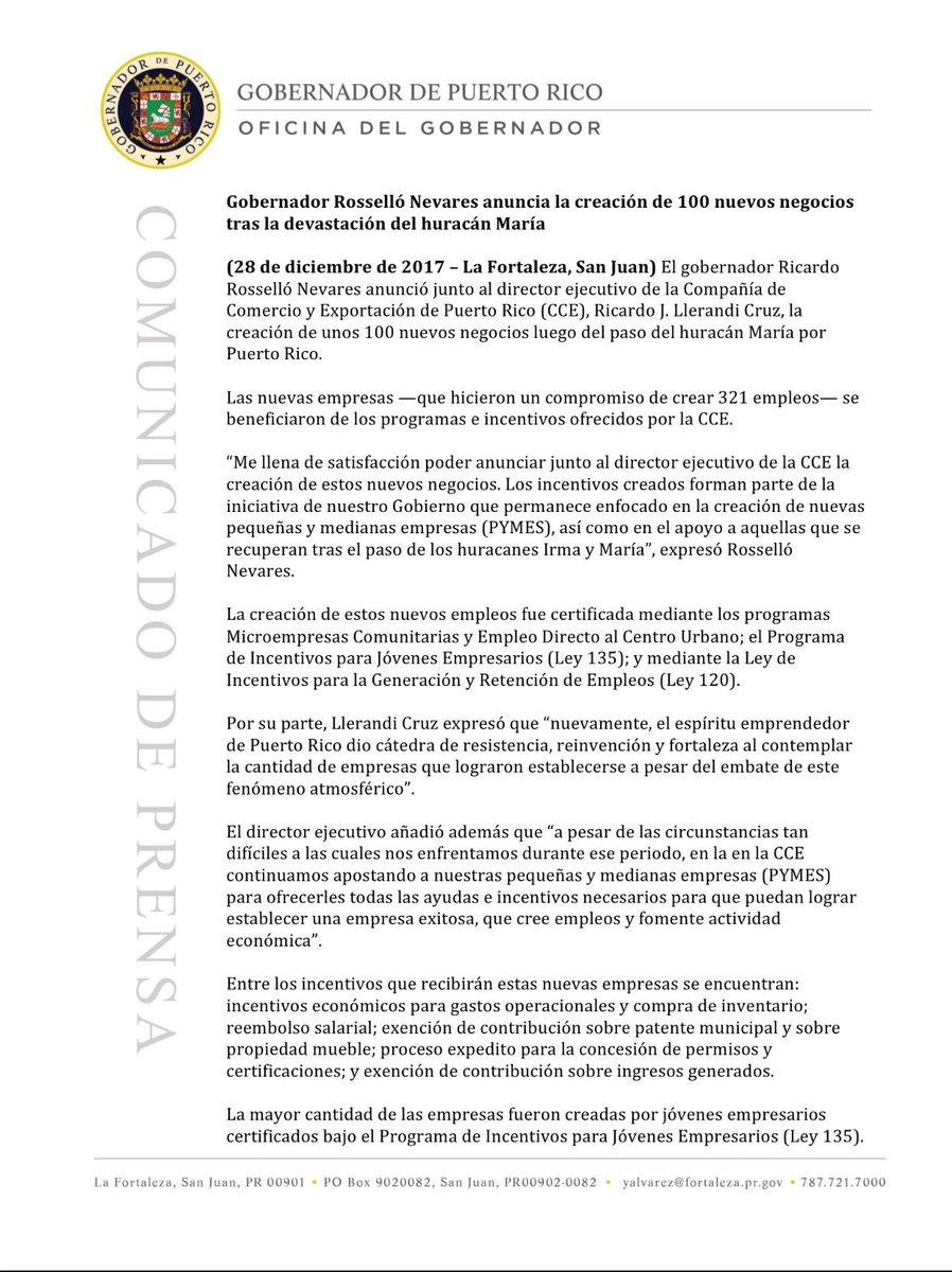 Ricardo Rossello On Twitter Anunciamos La Creaci N De 100 Nuevos  # Muebles Economicos Puerto Rico