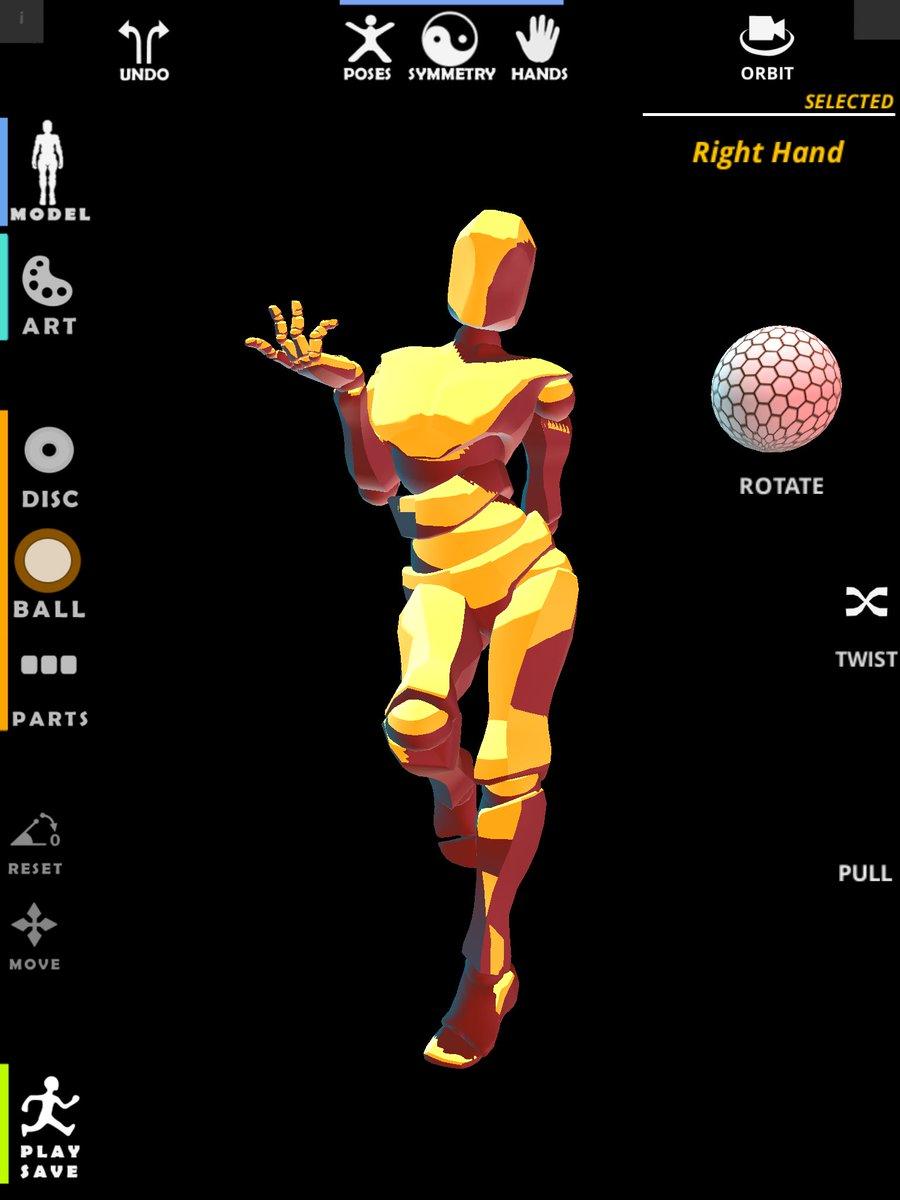 POSETASTIC!' Posing App for Character/Figure art  on Twitter: