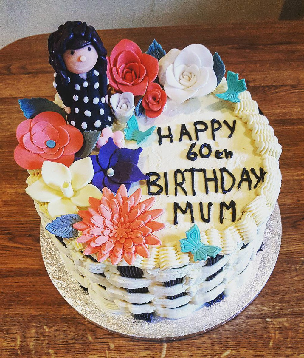 Cakemydayie On Twitter Say It With Flowers A 60th Birthday Cake