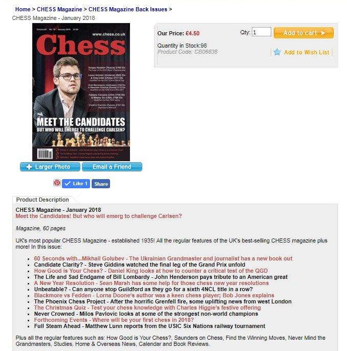 chessmagazine hashtag on Twitter