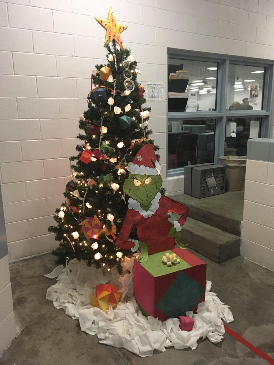 The Grinch Christmas Tree Decorations.Pueblocounty Sheriff On Twitter Dorm Inmates Participated