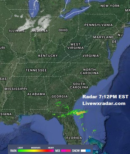 Weather Radar Map Florida.Rob Delp Weather On Twitter Current Radar Map 7 12pm Est See This