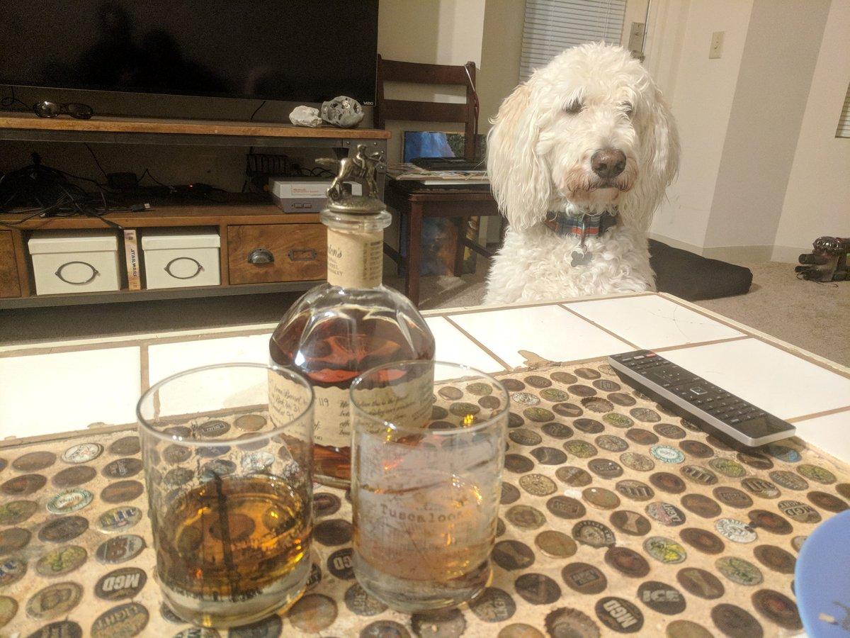 @BlantonsBourbon Even our pup wants a ta...
