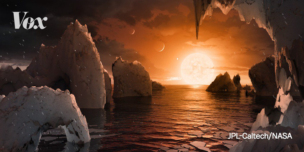Scientists got closer to finding another planet that can support life.   NASA and the European Southern Observatory discovered seven(!) Earth-size planets orbiting a small star 40 light-years away, three of could likely contain water.