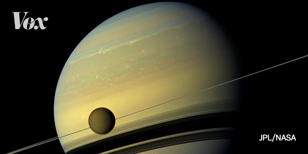 NASA ended the Cassini mission by crashing the spacecraft into Saturn.   Cassini made discoveries that changed our understanding of Saturn and the cosmos at large. Most exciting: it found jets of water on Enceladus, one of Saturn's moons. And water = the possibility of life.