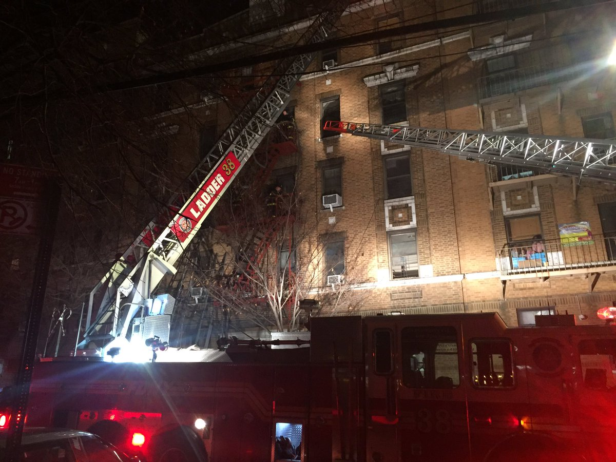 Over 160 #FDNY members are operating on scene of a 4-alarm fire, 2363 Prospect Ave #Bronx