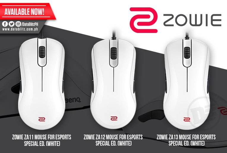 ec05822276e Zowie ZA11 Mouse for eSports Special Ed. White: P3,395.00 Zowie ZA12 Mouse  for eSports Special Ed. White: P3,395.00 Zowie ZA13 Mouse for eSports  Special Ed. ...