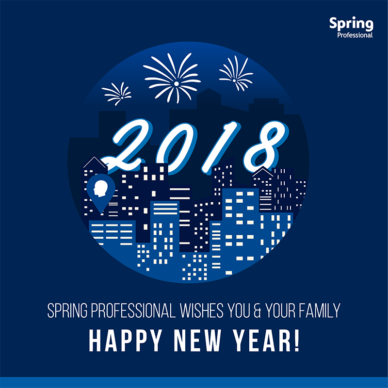 spring professional wishes you and your family happy new year this 2018 thank you for your support in 2017 and we look forward to achieving greater career