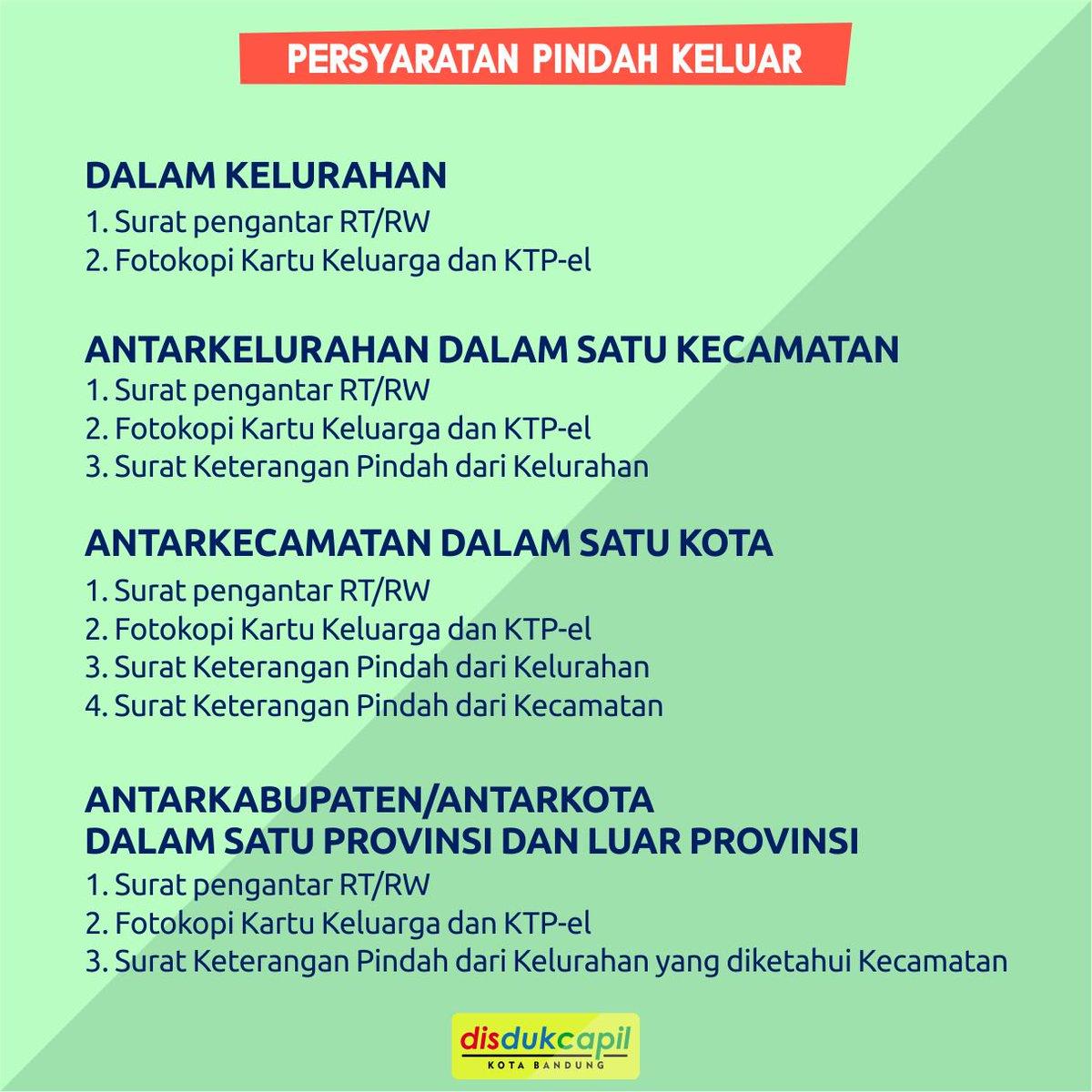 Disdukcapil Kota Bandung On Twitter Tentang Surat Pindah