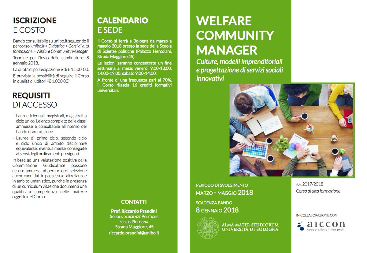 Calendario Didattico Unibo.Secondo Welfare On Twitter Per Il 2018 L Universita Di