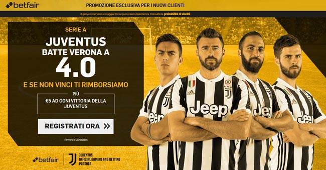bonus betfair.it QUOTA MAGGIORATA