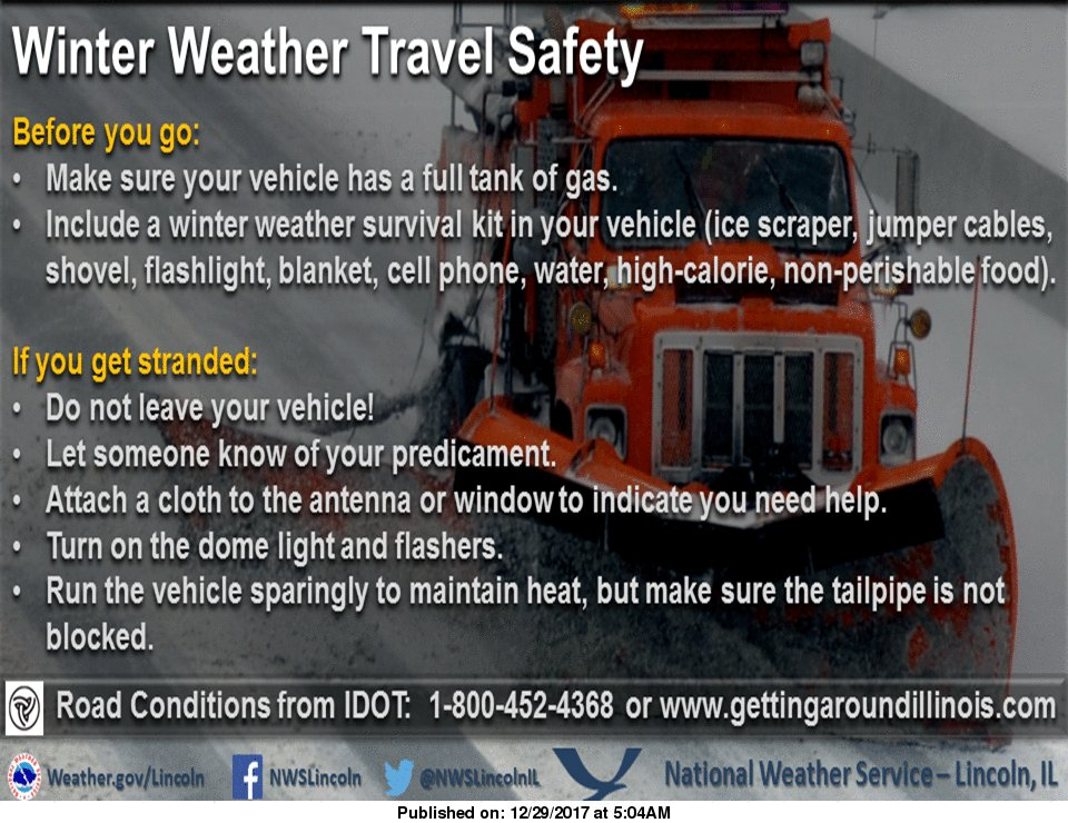 NWS Lincoln IL On Twitter Hazardous Travel Is Likely Today - National weather service lincoln illinois