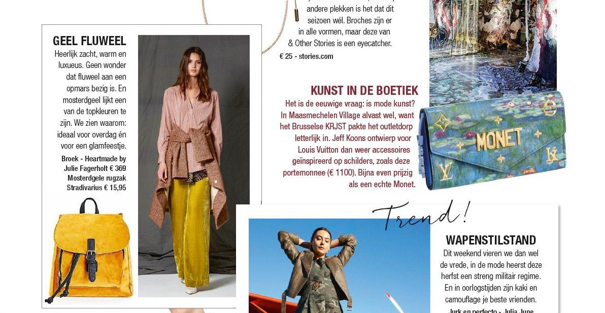 2b89401f3932 Check out this stunning outfit of Julie Fagerholt Heartmade in NINA  Magazine!  heartmade