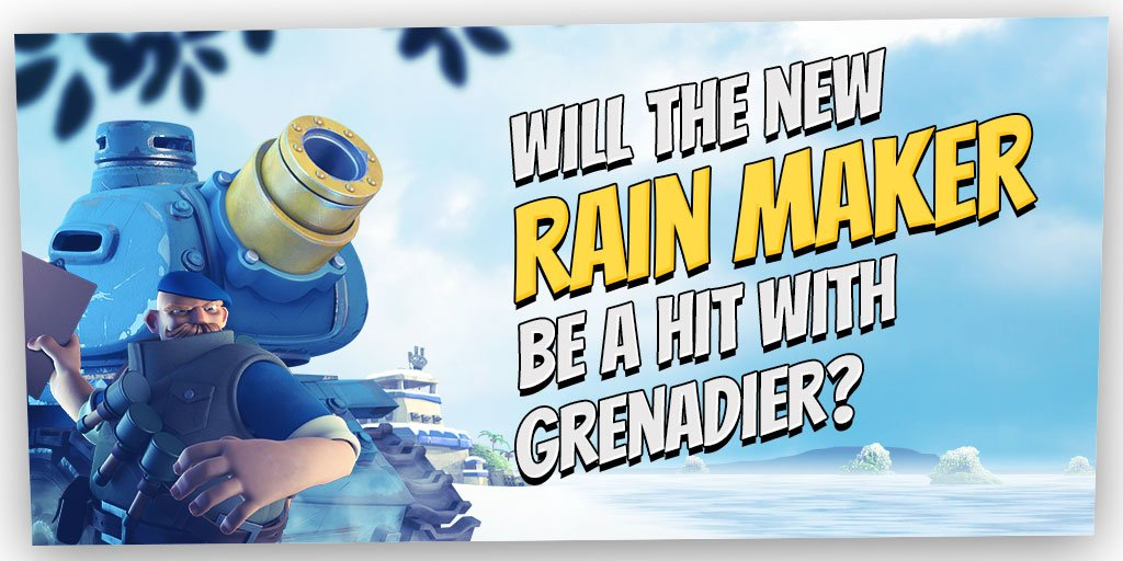 boom beach on twitter the rain maker a powerful tank mounted