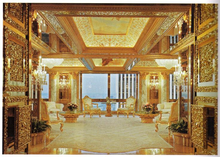 Donald Trump Lives In A Gold Plated Mansion The Middle Of Manhattan